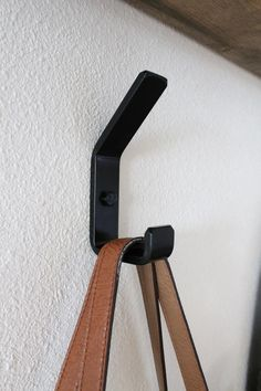 Double Wall Hooks, Modern Farmhouse Hook, Metal, Black or Brass Modern Coat Hooks, Modern Wall Hooks, Wall Mounted Hooks, Foyer Design, Hanging Towels, High Walls, Pipe Furniture, Furniture Vintage, Home Decor