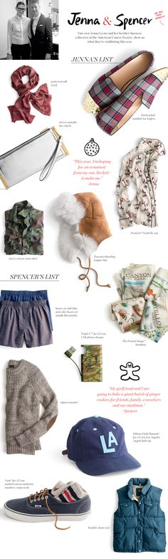 J.Crew Gift Guide - Wish List - Jenna Lyons and her brother Spencer