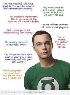 Funny Sheldon Cooper Quotes from Big Bang Theory