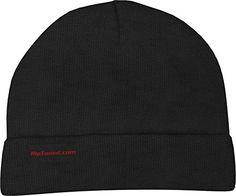 Black Beanie - Rip Toned - Warm Soft Stretch Knit Fashion