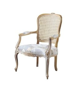 A traditional French provincial closed arms salon chair in the Louis XV style.As a small bergere it is ideal for a bedroom, lounge or occasional piece.Also available with cane back and side, dome seat or loose cushion as shown here.Also Available:□ Louis XV Salon Chair Closed Arm Loose Cushion□ Louis XV Salon Chair Closed Arm Dome Seat□ Louis XV Salon Chair Loose Cushion Cane Back