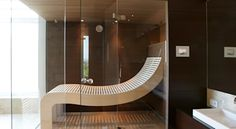 Modern Saunas, Steam Spa, New Homes, Bathtub, Shower, Mirror, House, Furniture, Home Decor