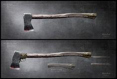 "The vampire killing axe used by Abraham Lincoln in the movie - ""Abraham Lincoln: Vampire Hunter"". #AbrahamLincolnVampireHunter #AbrahamLincolnVampireHunterFilm #VampireHunter #Axe #Axes #FantasyWeapons"
