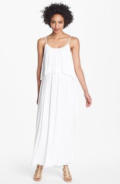 Lovers + Friends 'California Girl' Tiered Pleat Maxi Dress available at #Nordstrom