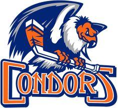 Bakersfield Condors - Hockey Sports Embroidery Logo in 4 sizes - Hockey Logos, Sports Team Logos, Bakersfield Condors, American Hockey League, Team Mascots, Great Logos, Detroit Red Wings, Basketball Teams, Bakersfield California