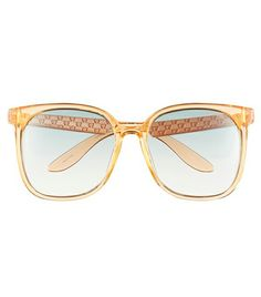 Carrera Eyewear    Eyewear 57mm Sunglasses ($99) in Orange  These see-through sunglasses are a modern-day ode to Jackie O. with their oversized square shape.
