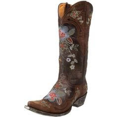 Old Gringo Women's Bonnie Boot.  $520.00            Show off your girlie side in Old Gringo's Bonnie boot. This classic western style features colorful floral embroidery and decorative seaming. The smooth leather outsole features a rubber heel cap for steady footing.