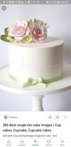 Luxury Wedding Cake, Wedding Cakes, Single Tier Cake, Cake Images, Tiered Cakes, Tea Time, Cupcake Cakes, Rose, Cupcake