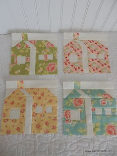 Free Pattern Download  Quilting Life - a quilt blog: Crossroads Quilt Along: House Blocks
