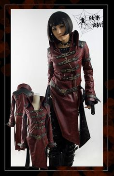 Veste rouge classe gothique style jeux video Punk Rave Y-261 > JAPAN ATTITUDE - VETVES017   Shop : www.japanattitude.fr