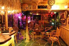 The Kanaloa Tiki Lounge Tiki Lounge, Bar Scene, Tiki Bars, Vintage Tiki, Luau Party, Beach Themes, Game Room, Family Room, House Plans