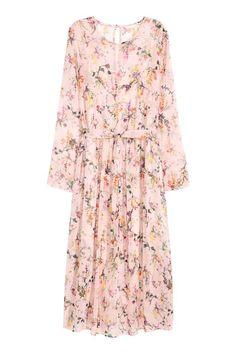 Długa suknia z szyfonu | H&M