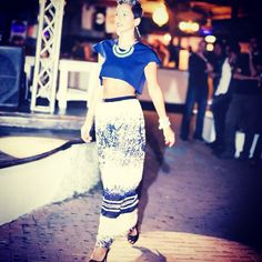 Sfilata Peut-être al molo9cinque 30/08/2014 #peut #peutetre #sfilata #fashion #artigianale #madeinitaly #top #diy #handmade #sumisura #blu #fantasia #gonna