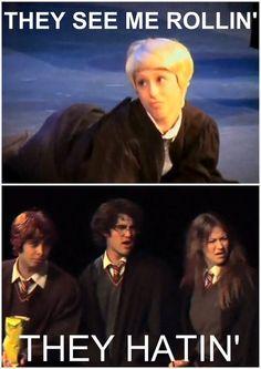 The amazing Lauren Lopez as Draco Malfoy