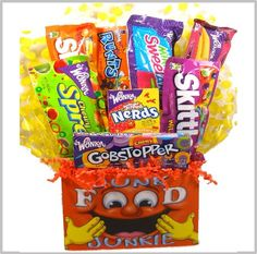 """Delight Expressions Junk Food """"Junkie"""" Gift Basket (Small) - Birthday or Get Well Gift! A Halloween Gift Idea!"""