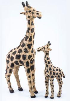 Giraffe hessian animals - 9482