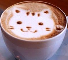 .·:*¨¨*:·. Coffee ♥ Art.·:*¨¨*:·. Kitty latte
