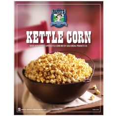 Make Great tasting Kettle Corn with our many Kettle Corn Poppers & supplies! Popcorn Supplies, Popcorn Seeds, Butterscotch Pudding, Kettle Corn, Gourmet Popcorn, Caramel Corn, Gingerbread Man, Apple Cider, Cravings