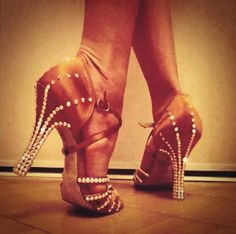 swarovski dance shoes ♡