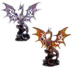 Scaled Wings Fire and Ice Fantasy Dragon Collectable Our fantasy and gothic dragon range are great entry level collectors items as they are well