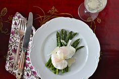 Roasted Asparagus with Poached Eggs | The Corner Kitchen