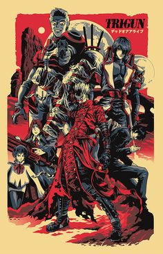 Trigun poster by Alexander Iaccarino, via Behance