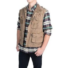 Vests 65982: Barbour Classic Uk Cotton Fly Fishing Vest - Size L - Color Standstone - New! -> BUY IT NOW ONLY: $99.95 on eBay!