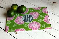 Monogrammed Glass Cutting Board.  From In This Room.  Click link for more info!