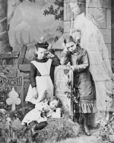 Children Mourn Loss Of Mother Ghost Appears 1889 8x10 Reprint Of Old Photo