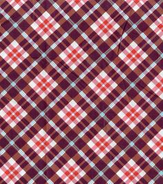 DS Quilts Collection Fabric-Sugar Creek Bayberry Plaid Rhubarb: premium quilting fabric: quilting fabric & kits: fabric: Shop   Joann.com