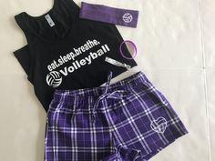 Eat.Sleep.Breathe. Volleyball Tank / Short Pajama Gift Set
