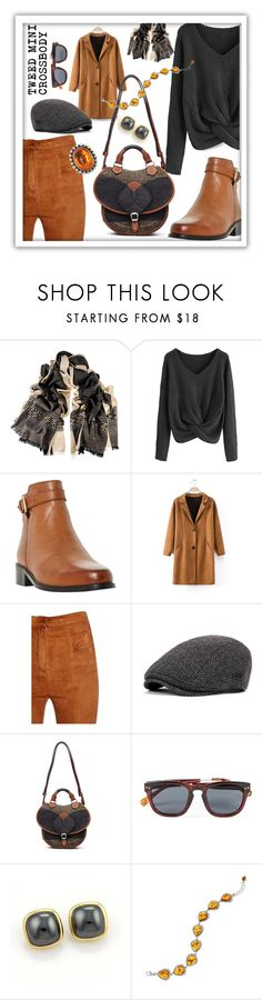 """""""Tweed Mini Crossbody"""" by queenofsienna ❤ liked on Polyvore featuring Black, Dune, Balmain, Maison Margiela, Topman, Tiffany & Co. and Stephen Dweck"""