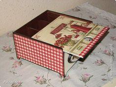 Коробочка для чайных пакетиков с выдвижной крышкой. фото 2
