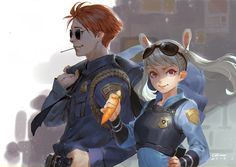 Nick and Judy hooman version!!! credit to this amazing artist: qmo