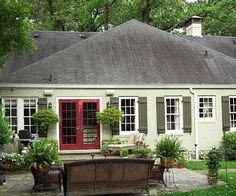 Stick with different shades of the same hue for a cohesive facade. More exterior color schemes: http://www.bhg.com/home-improvement/exteriors/curb-appeal/best-exterior-house-color-schemes/?socsrc=bhgpin042013allgreenexterior=7