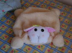 ovelha porta-pijamas  tecido polar,tecido pelo corte e costura