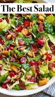 The Best Salad Recipe - Cooking ClassyYou can find Delicious salads and more on our website.The Best Salad Recipe - Cooking Classy Fresh Salad Recipes, Salad Recipes For Dinner, Salad Dressing Recipes, Dinner Salads, Chicken Salad Recipes, Healthy Salad Recipes, Lettuce Salad Recipes, Salad Dressings, Recipes For Salads