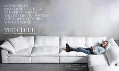The Cloud Cube Sofa. Is this the same one at ABC Carpet & Home?