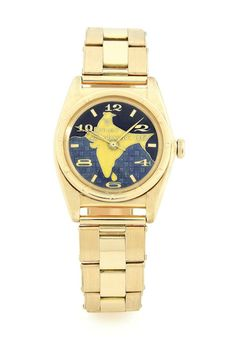 An exceptionally rare Rolex Oyster Perpetual, dating from circa 1948, and possibly offered to the first President of the Republic of India, Dr. Rajendra Prasad on the occasion of the inauguration of the Indian Republic on January 26, 1950.