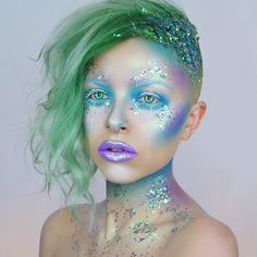 Mermaid tutorial is now up on my YOUTUBE CHANNEL Link in bio! Thank you so much for all the support on this look. I hope you're all having the best weekend, and let me know what video I should film next !! ✨✨