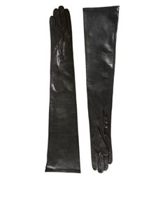 Long leather gloves - Asos