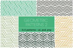 Seamless Geometric Patterns 2 by kloroform on Creative Market
