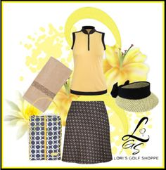 Time to look at our new happy and bright polyvore set today! For more golf outfit inspiration, just visit lorisgolfshoppe.polyvore.com #golf #ootd #golfstyle #lorisgolfshoppe