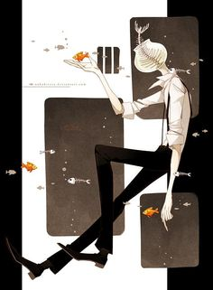 Surreal Illustrations by NekoKirara - Something Fishy