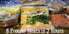 How to make 8 Freezer Meals in 2 Hours all are crockpot recipes!
