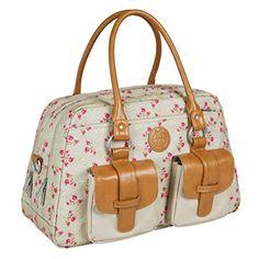 1f816e25de1 Lassig Vintage Metro Style Diaper Bag Handbag includes matching Bottle  Holder, Changing Mat and Stroller