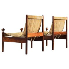 Pair of 'Ouro Preto' Chairs by Jorge Zalszupin | See more antique and modern Chairs at http://www.1stdibs.com/furniture/seating/chairs
