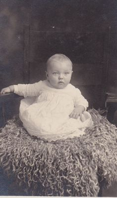 Anna Blahm - Born August 25, 1912 - Daughter of Mr. and Mrs. Adam Blahm - Photograph taken in May 1913