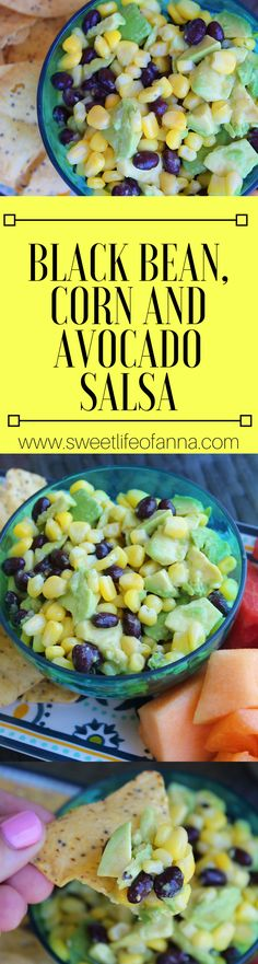 Super Easy Black Bean, Corn and Avocado Salsa, Dips, Appetizers, Cookout Recipes