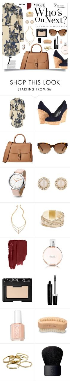 """""""Shirt + Dress = Shirtdress"""" by jafashions ❤ liked on Polyvore featuring Vila Milano, Stuart Weitzman, Burberry, Michael Kors, Kate Spade, GUESS, Chanel, NARS Cosmetics, Marc Jacobs and Essie"""
